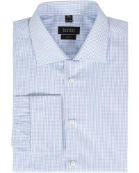 Barneys New York Tattersall Shirt - Lyst