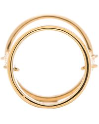 Rebecca Minkoff Wide Band Chain Ring - Lyst