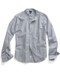 Todd Snyder 7Th Ave Union Band Collar Shirt - Lyst