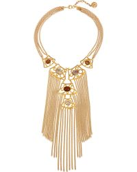 Ben-Amun - Gold-plated Cabochon Necklace - Lyst