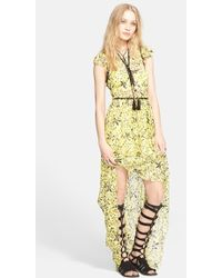 Free People Cherry Blossom Maxi Dress yellow - Lyst