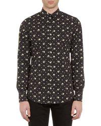 Dolce & Gabbana Floral-print Poplin Shirt - Lyst