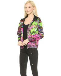 Versace Printed Jacket  Multi - Lyst