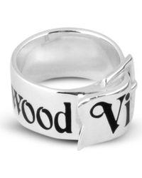 Vivienne Westwood Sterling Silver Belt Ring - Lyst