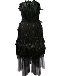 Alberta Ferretti Feather and Fringe Dress - Lyst
