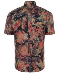 Paul Smith Orange And Khaki 'Acid Jungle' Print Short-Sleeve Shirt - Lyst