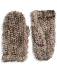 Love Token - Genuine Mink Fur Mittens - Lyst