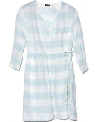 Steven Alan Cross Over Stripe Dress - Lyst