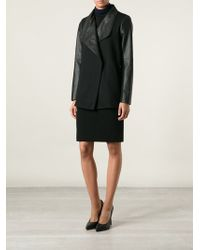 Theory Faux Leather Coat - Lyst