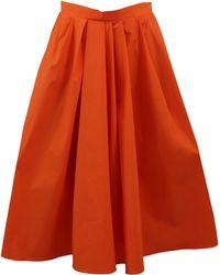Carven Orange Full Skirt - Lyst