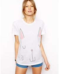 Asos T-Shirt with Cat Print - Lyst