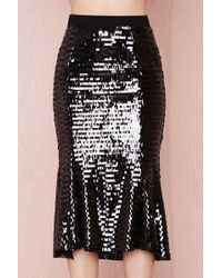 Nasty Gal Party Line Sequin Skirt - Lyst