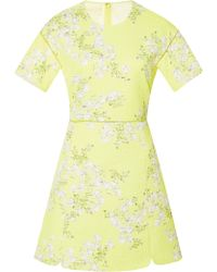 Giambattista Valli Floral-print Matelassã Cotton Mini Dress - Lyst