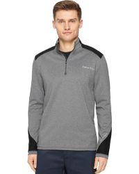 Calvin Klein Mixed Media Interlock Pullover gray - Lyst