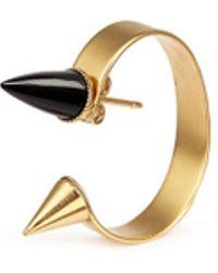Ela Stone - 'marla' Onyx Stud Hoop Earrings - Lyst