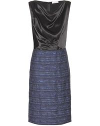 Nina Ricci Hammeredsatin and Tweed Dress - Lyst