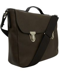Ally Capellino - Dark Green Miles Leather Briefcase - Lyst