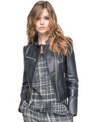 Andrew Marc Leather Moto Jacket - Lyst