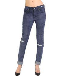 James Jeans Moto Beau Slouchy Boyfriend - Lyst