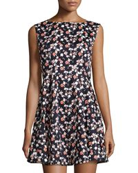French Connection Sahara Rose Floral-Print Dress - Lyst