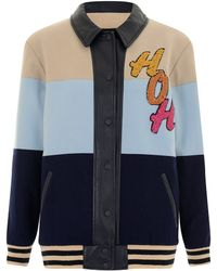 House Of Holland Blue Varsity Jacket - Lyst