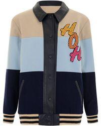 House Of Holland Blue Varsity Jacket - Lyst