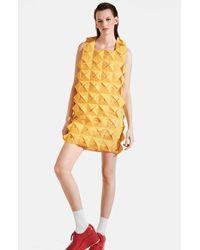 Junya Watanabe Monofilament Mesh Dress yellow - Lyst