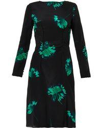 Nina Ricci Floral-Print Silk Dress - Lyst