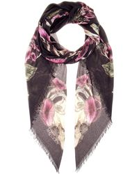 Alexander McQueen Floral Printed Scarf - Lyst