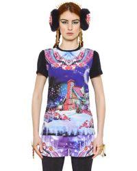 Manish Arora Candyland Cotton Crepe Lurex Tshirt - Lyst