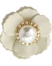 Asos Flower Ring with Faux Pearl - Lyst