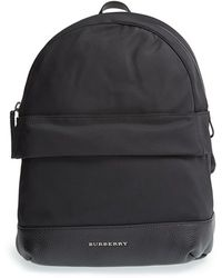 Burberry 'Tiller' Nylon & Leather Backpack black - Lyst