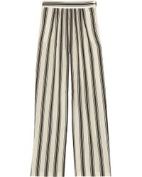 Paul & Joe Striped Cottonblend Wideleg Pants - Lyst