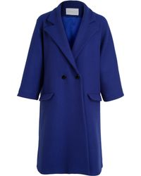 Osman Yousefzada Double Breasted Wool Coat - Lyst