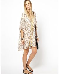 Zadig & Voltaire Zadig and Voltaire Raba Printed Kaftan Dress - Lyst