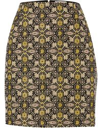 Louche - Metallic Brocade Skirt - Lyst