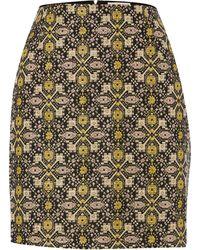 Louche - Metallic Brocade Skirt - Lyst
