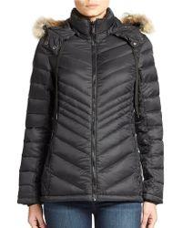 Pajar - Fur-trimmed Lightweight Down Jacket - Lyst