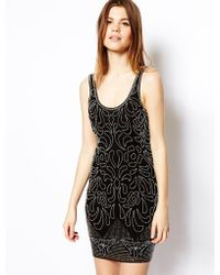 Asos Beautiful Embellished Bodyconscious Dress - Lyst