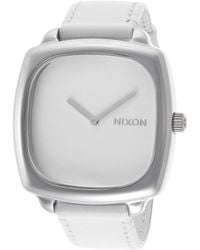 Nixon Womens Shutter Ss White Genuine Leather Strap and Dial - Lyst