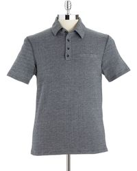 Vince Camuto Gray Polo Shirt - Lyst