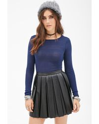 Forever 21 Sweater-Knit Crop Top - Lyst