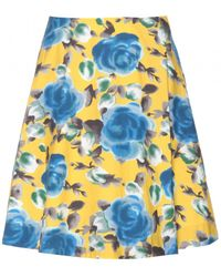 Marc By Marc Jacobs Jerrie Rose Printed Cotton Skirt - Lyst