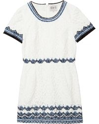 Sea Embroidered Lace Dress - Lyst