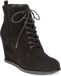Kenneth Cole Reaction Womens Storm Call Ankle Wedge Booties - Lyst