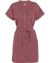 Burberry Brit - Printed Cotton Shirt Dress - Lyst