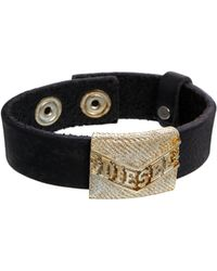 Diesel Abade Leather Bracelet - Lyst