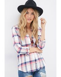 Forever 21 Classic Flannel Plaid Shirt - Lyst