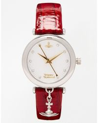 Vivienne Westwood Time Machine Red Charm Watch Vv108whrd - Lyst