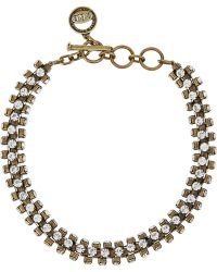 Giles & Brother Brass Crystal Necklace - Lyst